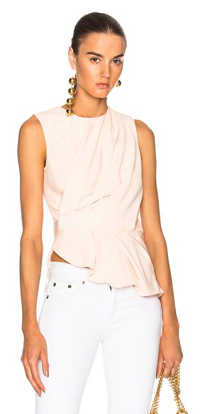 Carven Drape Sleeveless Top in neutrals,pink - Self: 100% poly - Lining: 70% acetate 30% silk.  Made in...