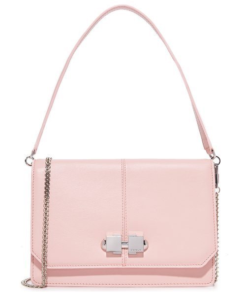 Carven full joy cross body bag in rose clair - A sturdy leather Carven cross-body bag. A metal knob...