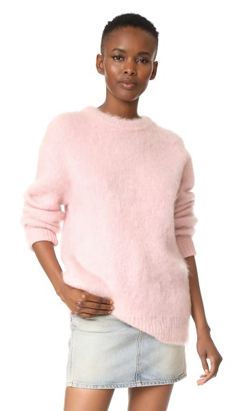 Carven long sleeve pullover in rose pale - This oversized Carven sweater has a cozy feel with...