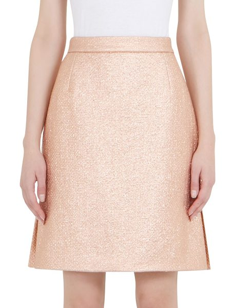 CARVEN metallic mini skirt - Cotton-blend skirt with cutout slit detail. Banded...