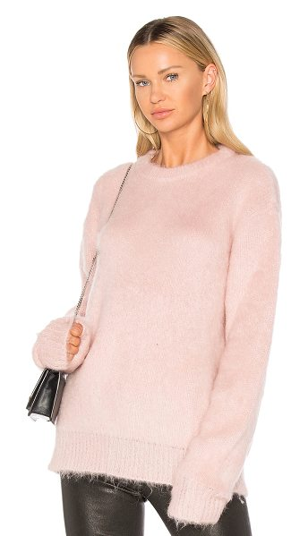 Carven Mohair Sweater in pink - Bundle up in fashion's most coveted color. Cozy mohair...