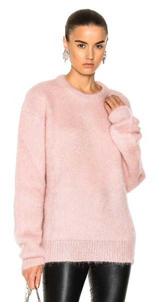 Carven Mohair Sweater in rose pale - 40% acrylic 30% mohair 30% nylon. Made in Italy. Dry...