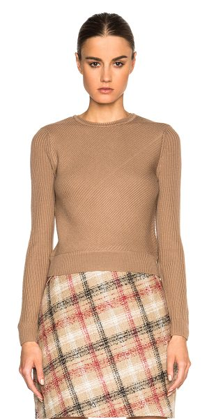 CARVEN Pullover sweater - 100% merino wool.  Made in China.  Rib knit fabric.