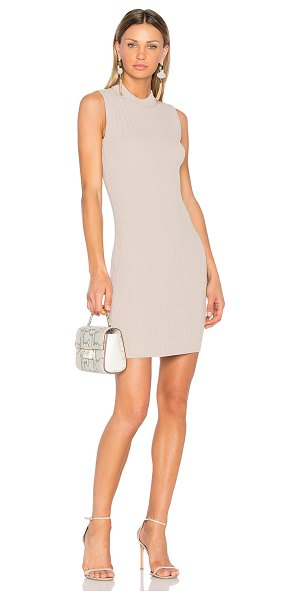 Carven Ribbed Dress in taupe - Cocktail with a casual side: Carven's Ribbed Dress. This...