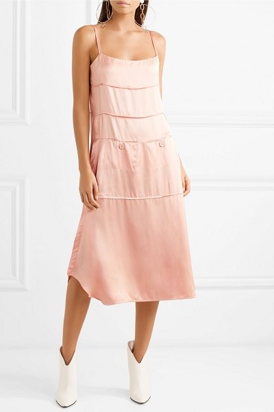 Carven satin midi dress in blush