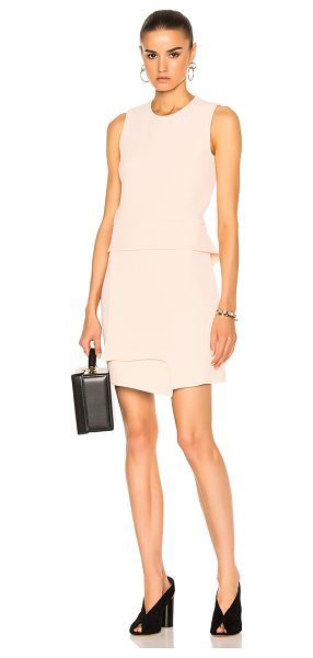Carven Sleeveless Mini Dress in neutrals,pink - Self & Contrast Fabric: 100% poly - Lining: 70% acetate...