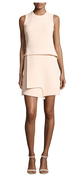CARVEN Sleeveless Notched Crepe Peplum Dress - Carven mini dress in crepe, featuring notched detail at...