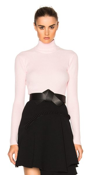 Carven Turtleneck Sweater in rose clair - 63% viscose 37% polyamide. Made in Italy. Hand wash. Rib...