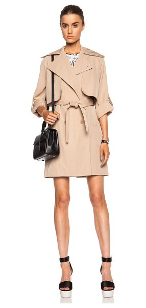 Carven Viscose-blend trench coat in neutrals - Self: 60% viscose 40% cotton - Lining: 65% acetate 35%...