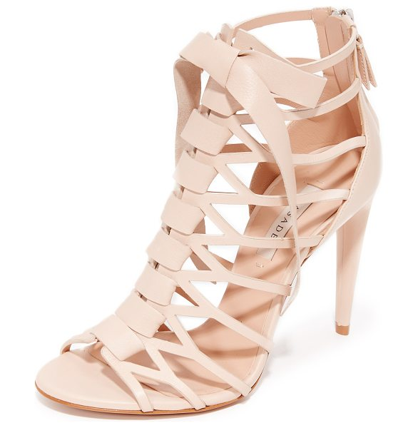 Casadei caged sandals in nude