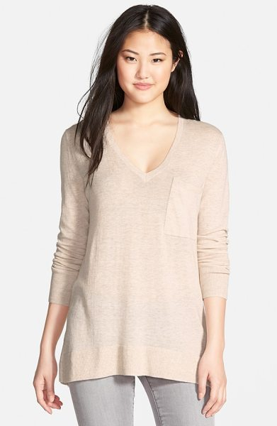 CASLON zip back v-neck tunic - A full-length exposed zip runs contemporary allure down...