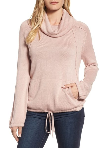Caslon caslon cowl neck sweater in pink adobe - A drapey cowl neck, pronounced seams and a flattering...