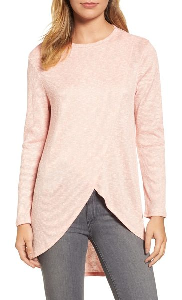 Caslon caslon high/low tunic top in pink - An everyday pullover with slip-on-and-go ease features a...