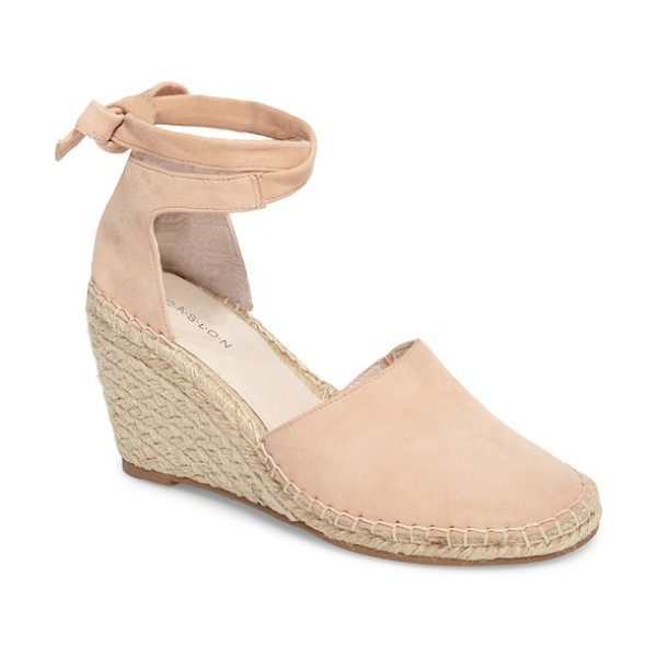 Caslon caslon megan wedge in blush suede - An espadrille-wrapped wedge lifts a warm-weather pump...