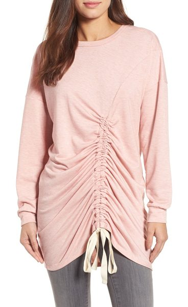 Caslon caslon ruched front tunic in heather old rose - Ripples of ruching down the front created with...