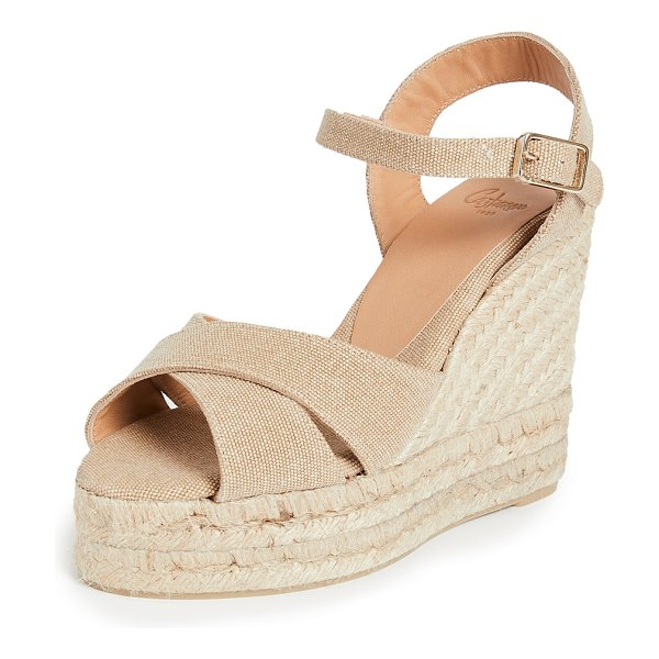 Castaner blaudell espadrille wedge sandals in sand