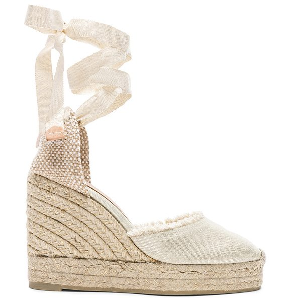 Castaner Canvas Canela Espadrilles in metallics - Metallic coated canvas upper with rubber sole.  Made in...