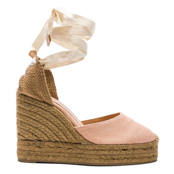 Castaner Canvas Carina Wedge Espadrilles in pink - Canvas upper with rubber sole.  Made in Spain.  Approx...
