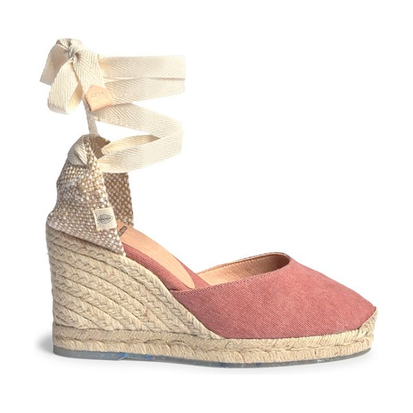 Castaner carina recycled canvas espadrille wedges in rosa
