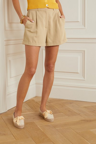 Castaner net sustain kay bow-detailed canvas espadrilles in beige