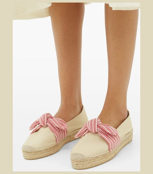 Castaner kay bow-tie canvas espadrilles in pink white
