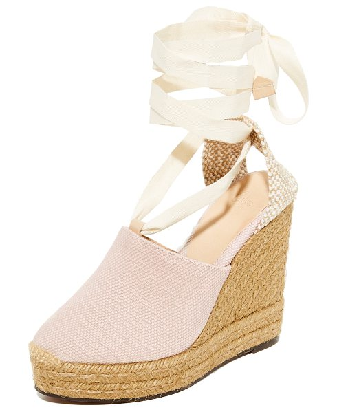 Castaner urban canvas wedge espadrilles in rose - Effortless Castaner wedge espadrilles in sturdy canvas....