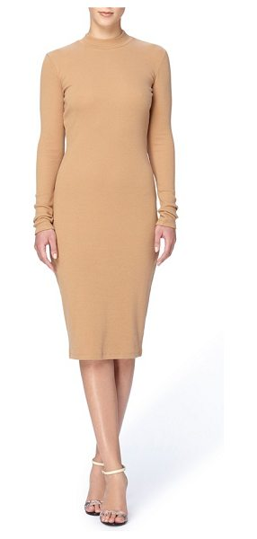 Catherine Catherine Malandrino 'kristiana' knit midi dress in khaki - Open to lots of accessorizing possibilities, a long and...