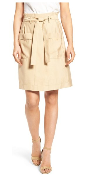 Catherine Catherine Malandrino tyra belted skirt in roasted coconut - The skirt version of summer chinos is just as easygoing...