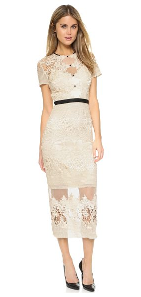 Catherine Deane Forever dress in cream - An elegant Catherine Deane dress composed of crocheted...