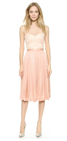 Catherine Deane Zaina dress in tea rose/desert blush - Delicate lace pairs with lustrous silk on this ladylike...