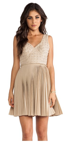 Catherine Malandrino Elli dress in tan - Shell: 100% cottonLining: 80% poly 20% cotton. Dry clean...