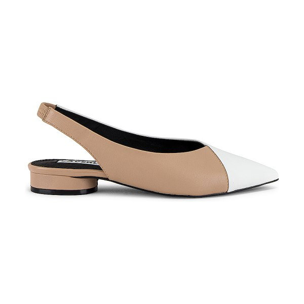 Caverley magda flat in taupe & white