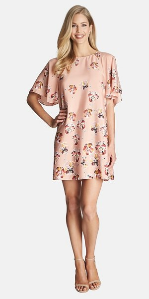 CECE BY CYNTHIA STEFFE floral print flutter sleeve dress - A sweet little shift with flutter sleeves is cut from a...
