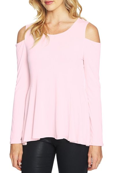 CeCe by Cynthia Steffe cold shoulder swing top in iced blush - This flirty crepe blouse features a swingy hem and...