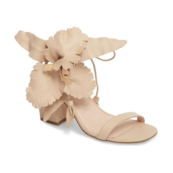 CECELIA NEW YORK hibiscus sandal in beige