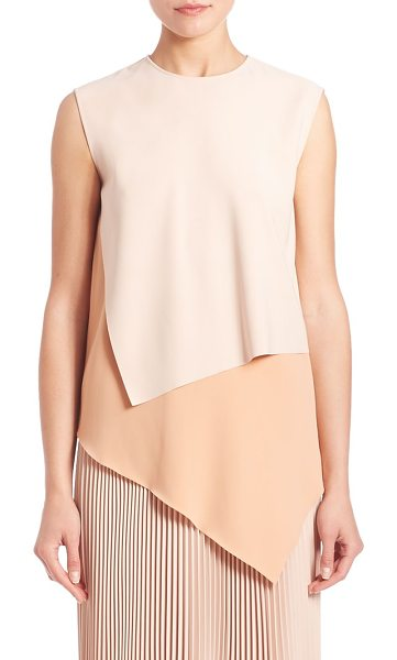 CEDRIC CHARLIER colorblocked asymmetrical shell - Refined shell, with chic layered colorblocking....