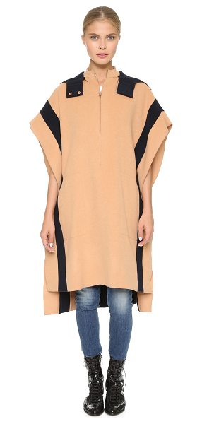 CEDRIC CHARLIER Oversized cape - A cozy two tone Cedric Charlier poncho with signature...