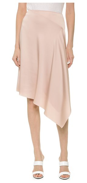 CEDRIC CHARLIER Satin skirt - A draped, crossover panel adds gentle movement to the...