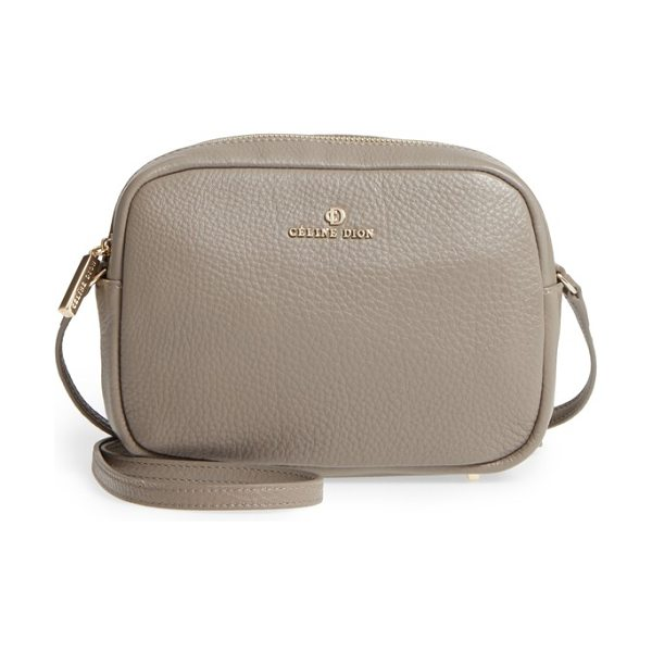 CELINE DION adagio leather camera crossbody bag in taupe