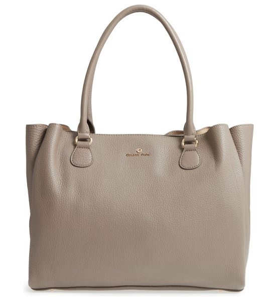 CELINE DION adagio leather tote - Pebbled leather adds texture to this sleek tote perfect...