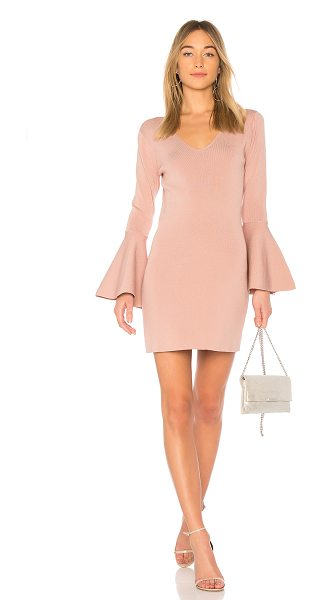 Central Park West olympia dress in mauve