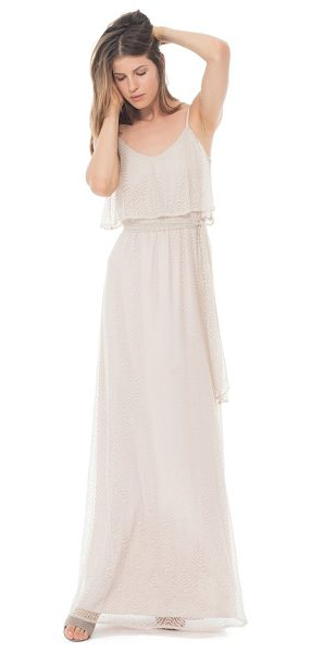Ceremony by Joanna August 'dani' popover bodice lace maxi dress in champagne lace -