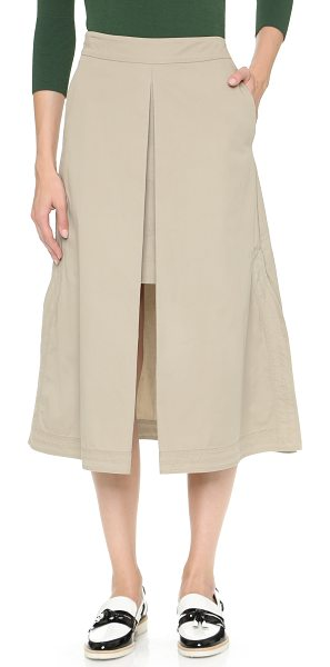 CG Long apron skirt in khaki