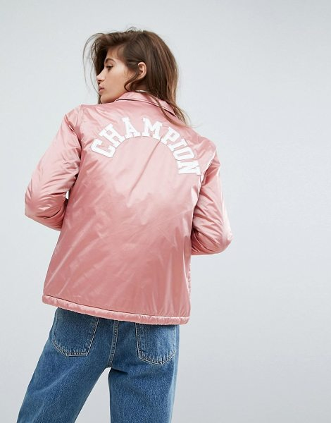 Champion Coach Jacket in pink - Jacket by Champion, Smooth woven fabric, Point collar,...
