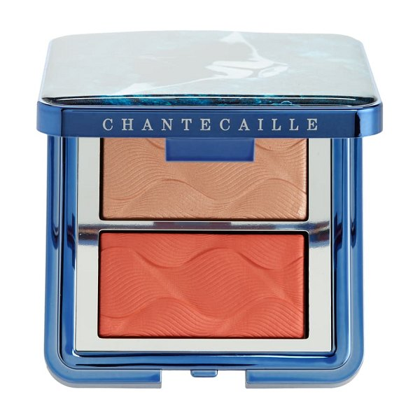 Chantecaille radiance chic cheek highlighter duo in coral