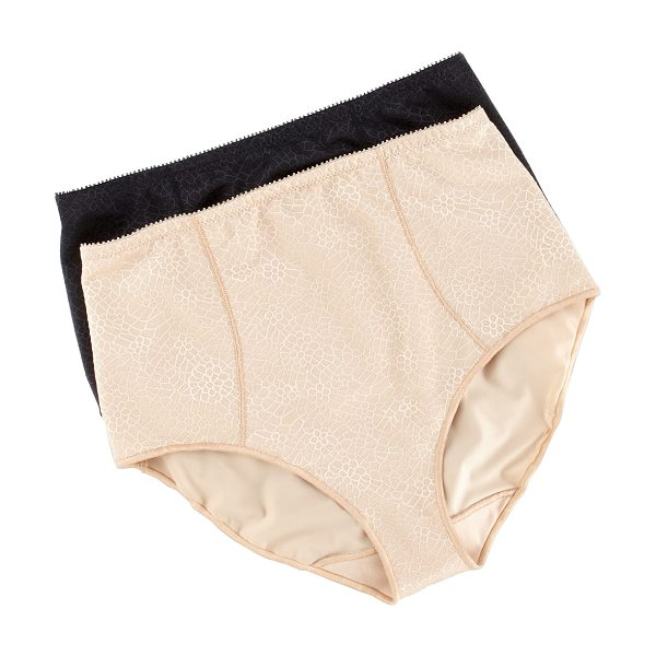Chantelle C magnifique high-waist briefs in nude - Nude with scale motif. High waist. Full coverage....