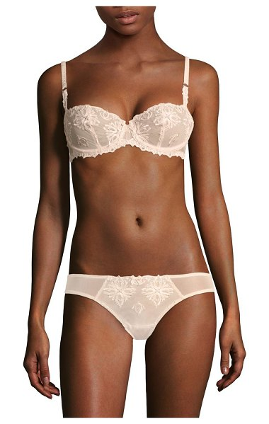 Chantelle champs elysses lace unlined demi bra in cappuccino