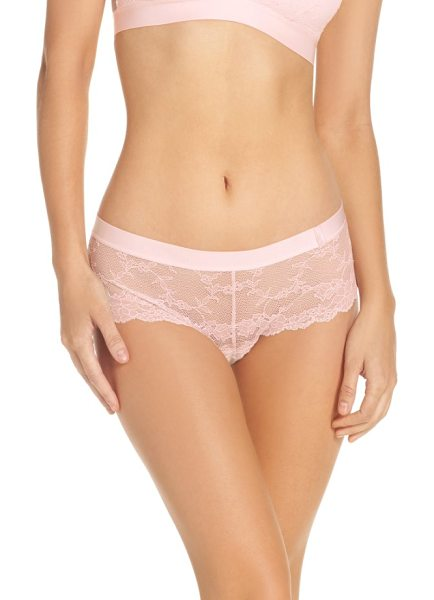 Chantelle everyday lace hipster panties in blushing pink