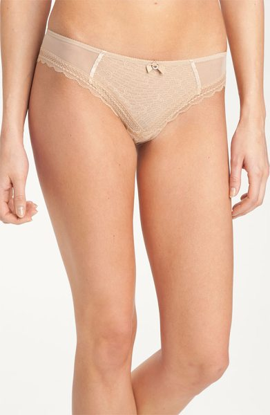 CHANTELLE c-chic sexy brazilian panties - A diminutive bow with a rhinestone accent adds sweet...