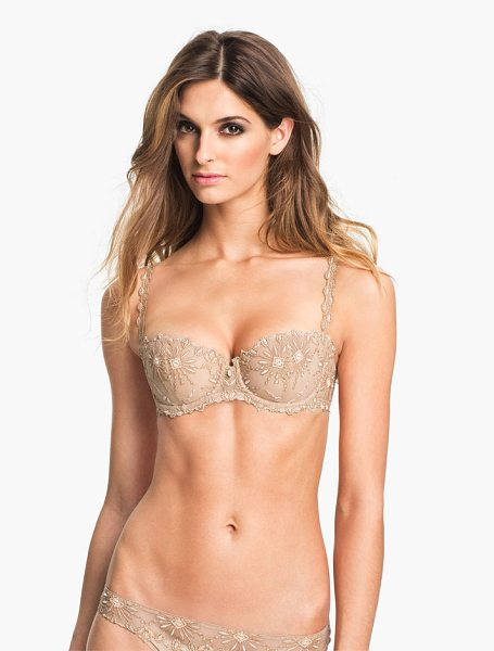 Chantelle vendome underwire demi bra in ultra nude - Embroidered starbursts pattern a beguiling demi bra that...